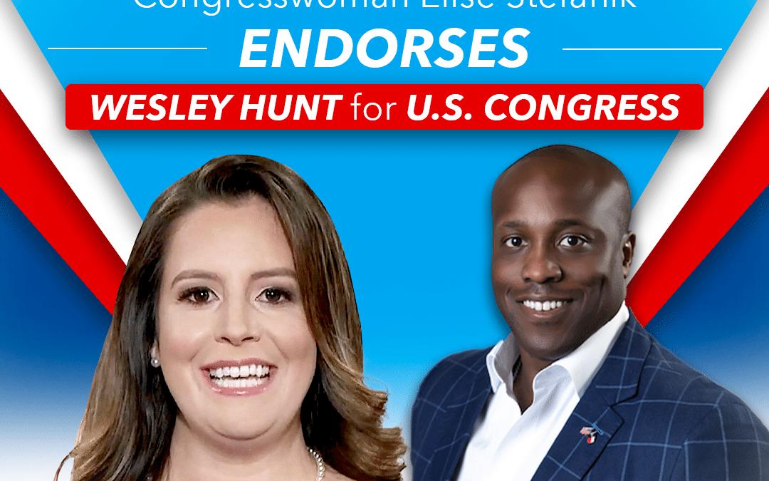 For Release: Congresswoman Elise Stefanik Endorses Wesley Hunt